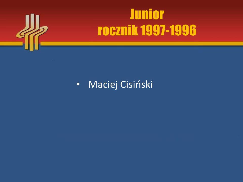Junior rocznik 1997-1996 Maciej Cisiński