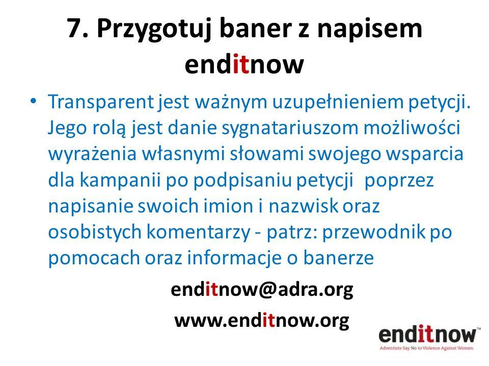 7. Przygotuj baner z napisem enditnow