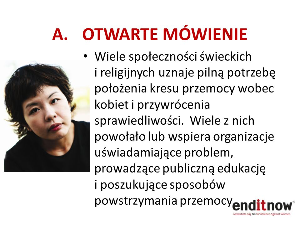 A. OTWARTE MÓWIENIE