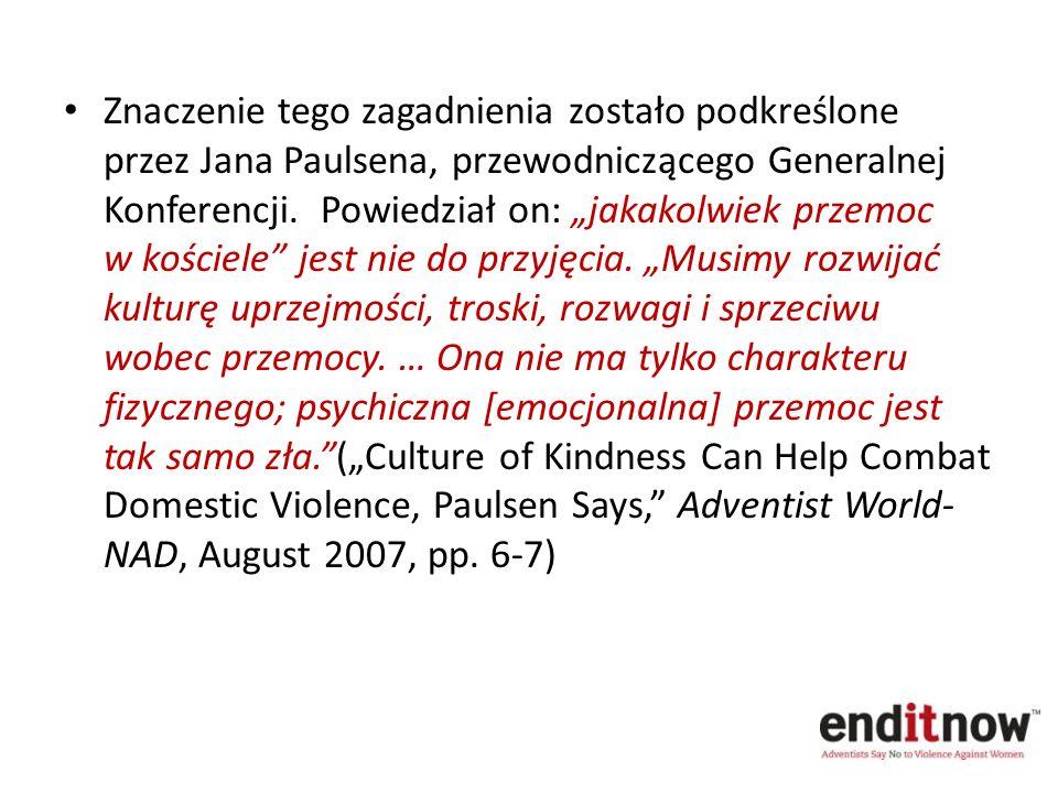 Znaczenie tego zagadnienia zostało podkreślone przez Jana Paulsena, przewodniczącego Generalnej Konferencji.