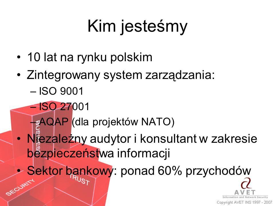 Kim jesteśmy 10 lat na rynku polskim Zintegrowany system zarządzania: