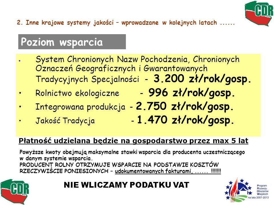 2. Inne krajowe systemy jakości – wprowadzane w kolejnych latach ......