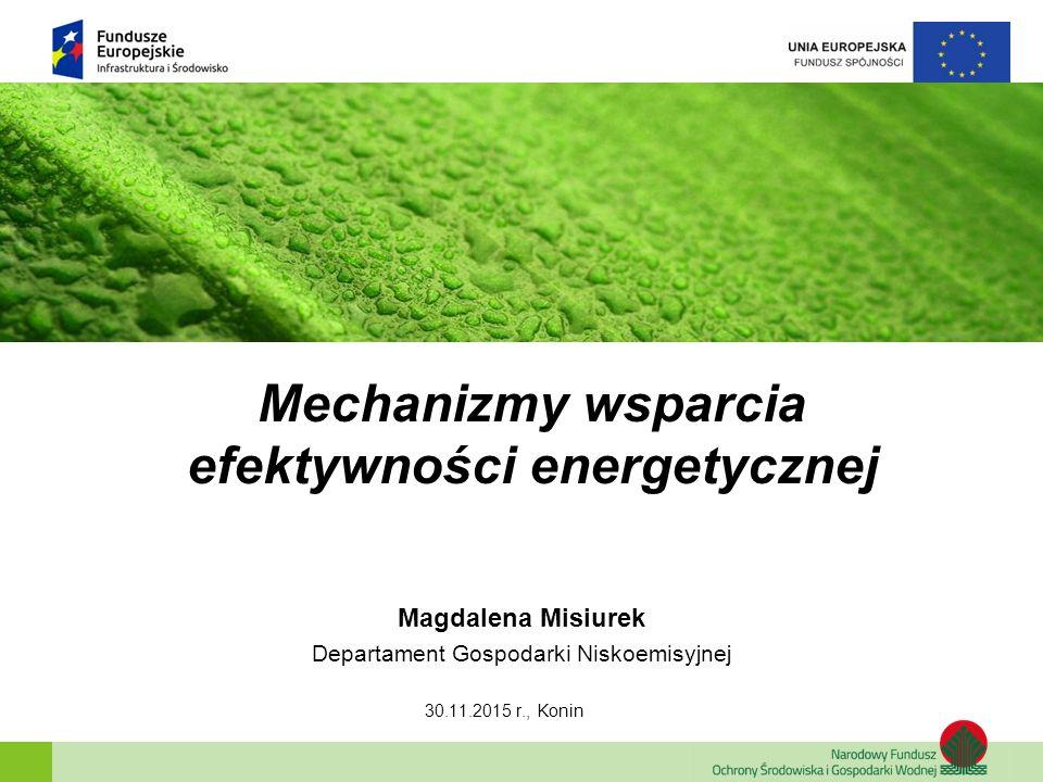 Mechanizmy wsparcia efektywności energetycznej