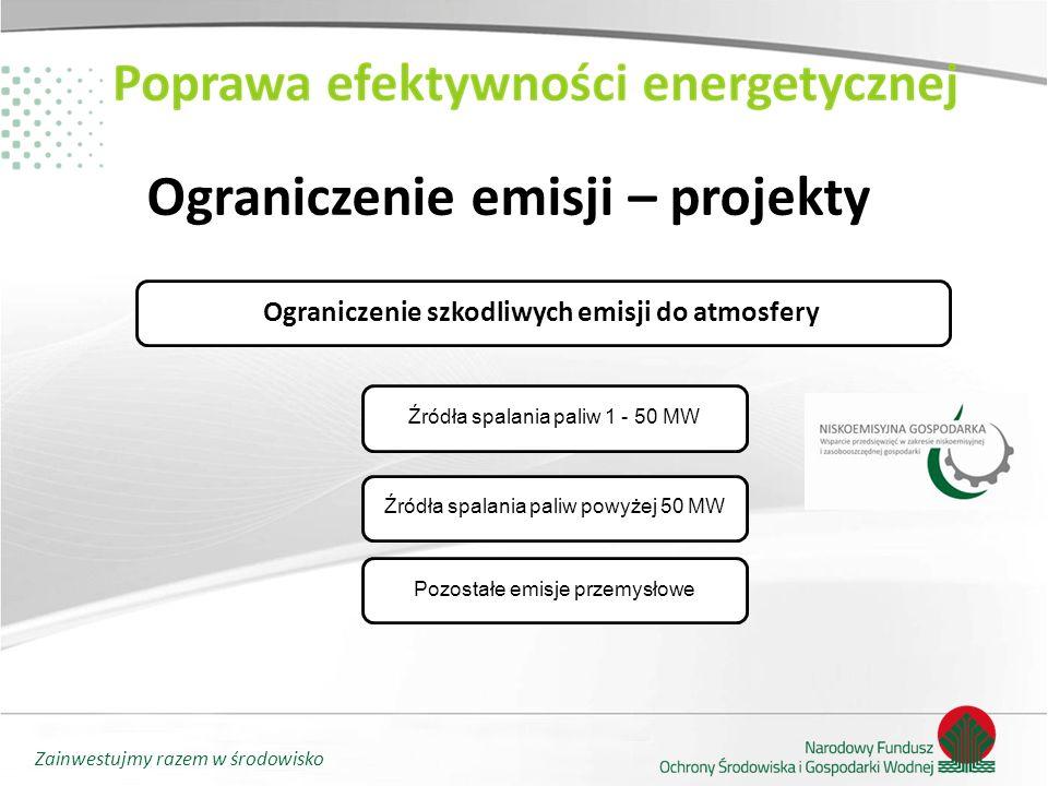 Ograniczenie emisji – projekty