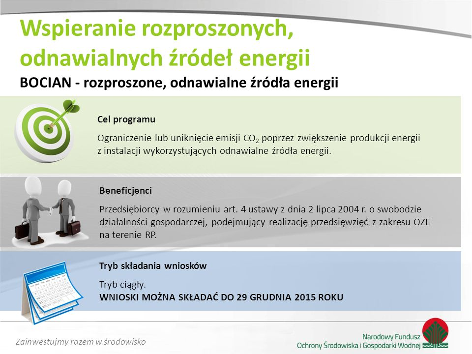 Wspieranie rozproszonych, odnawialnych źródeł energii