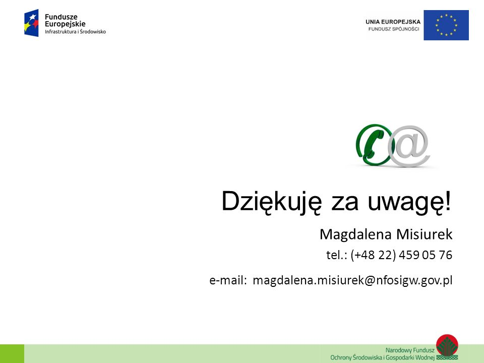 Dziękuję za uwagę! Magdalena Misiurek