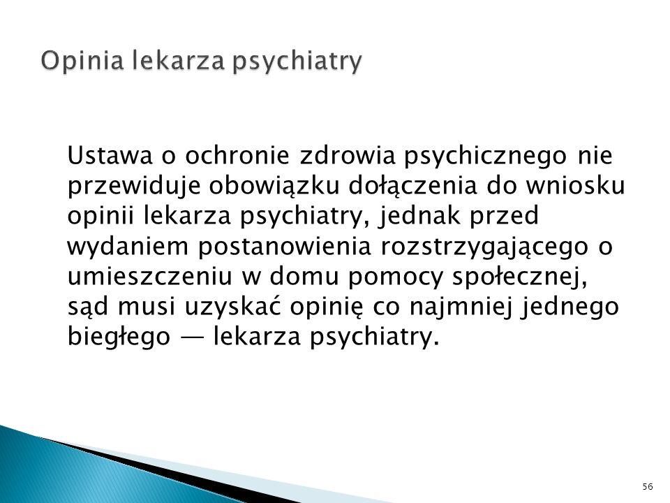 Opinia lekarza psychiatry