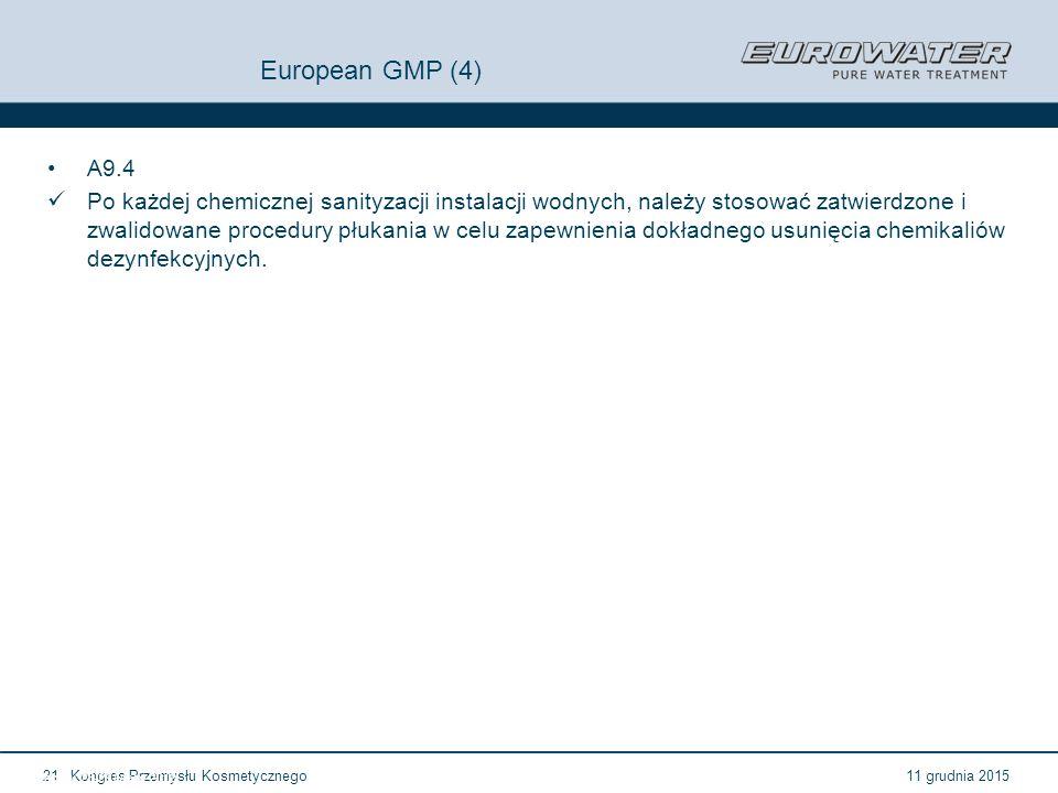 European GMP (4) A9.4.