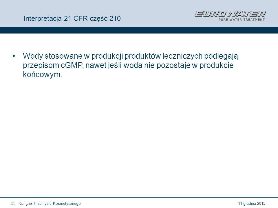 Interpretacja 21 CFR część 210