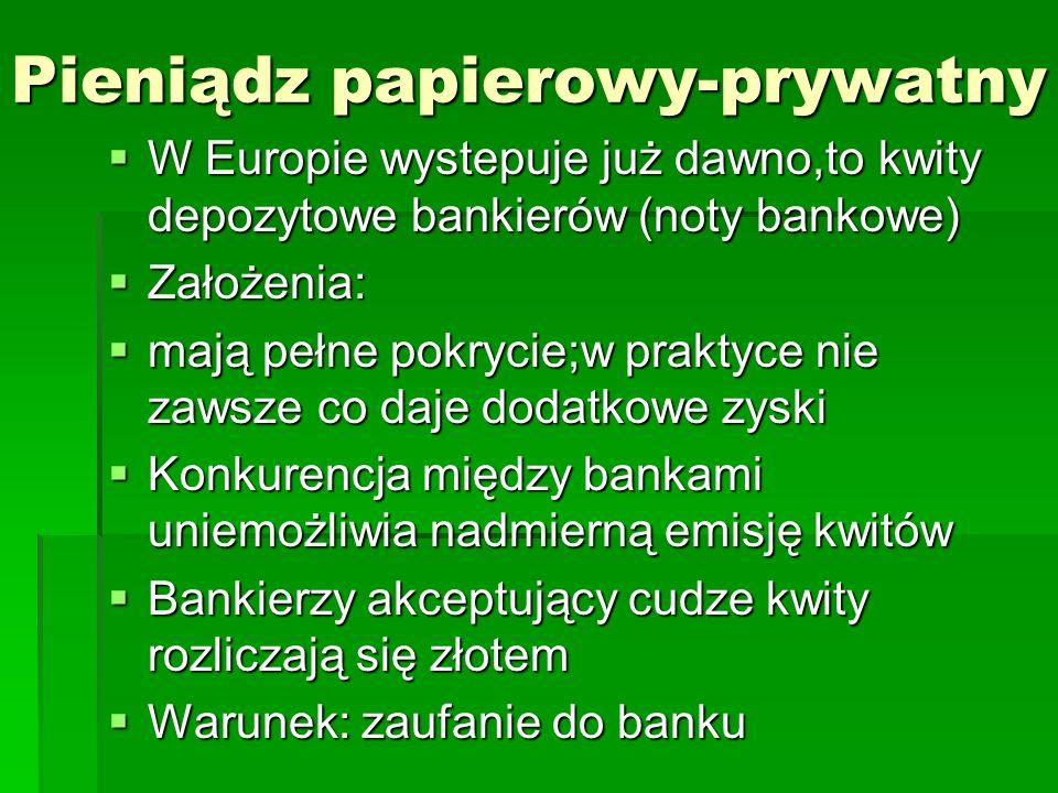 Pieniądz papierowy-prywatny