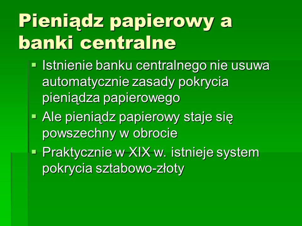Pieniądz papierowy a banki centralne