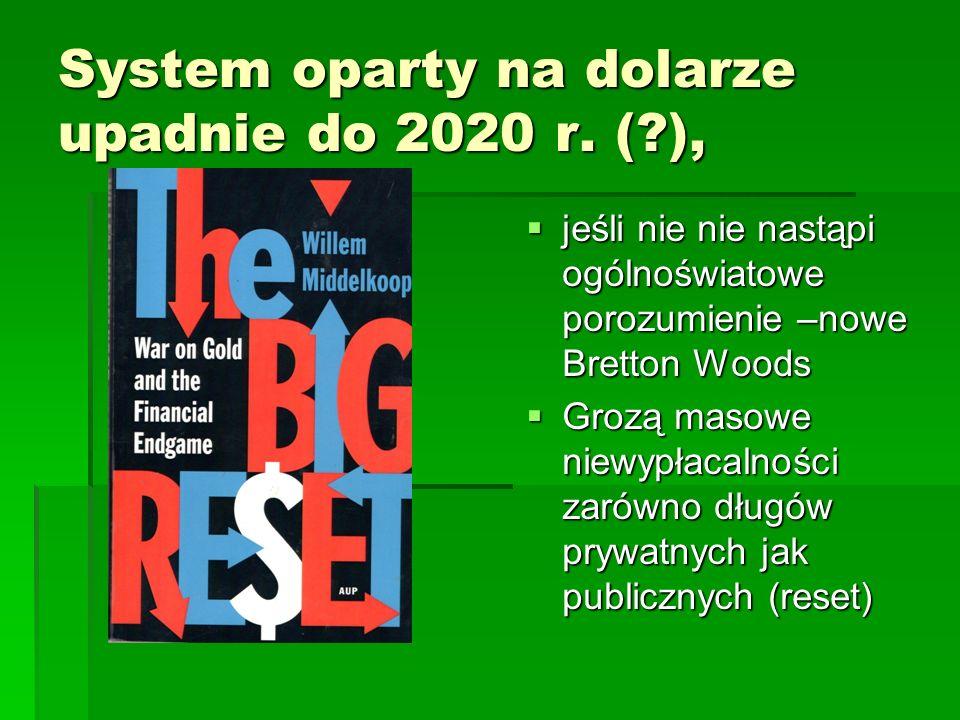 System oparty na dolarze upadnie do 2020 r. ( ),