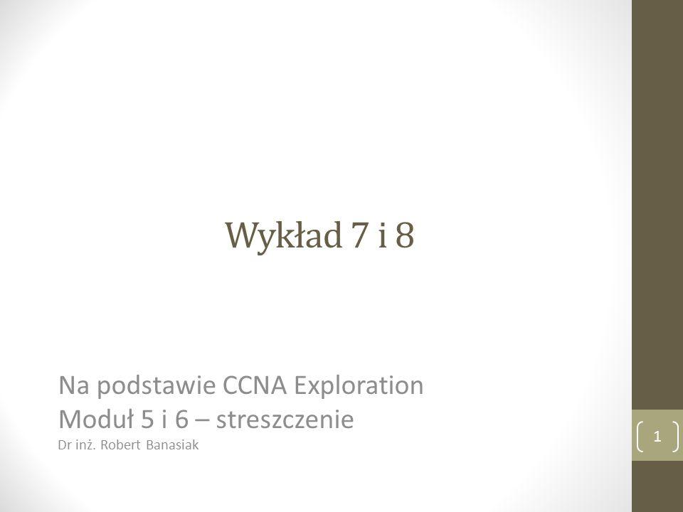 Wykład 7 i 8 Na podstawie CCNA Exploration Moduł 5 i 6 – streszczenie