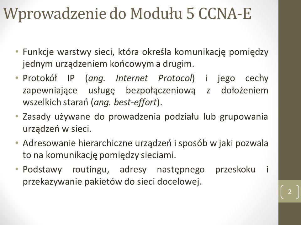 Wprowadzenie do Modułu 5 CCNA-E