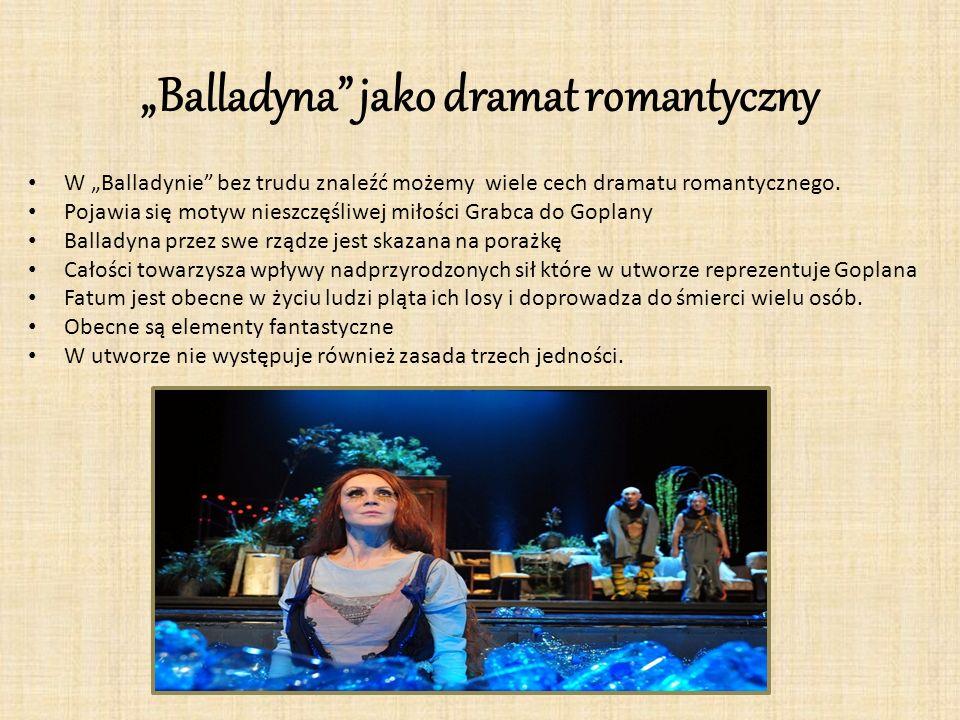 """""""Balladyna jako dramat romantyczny"""
