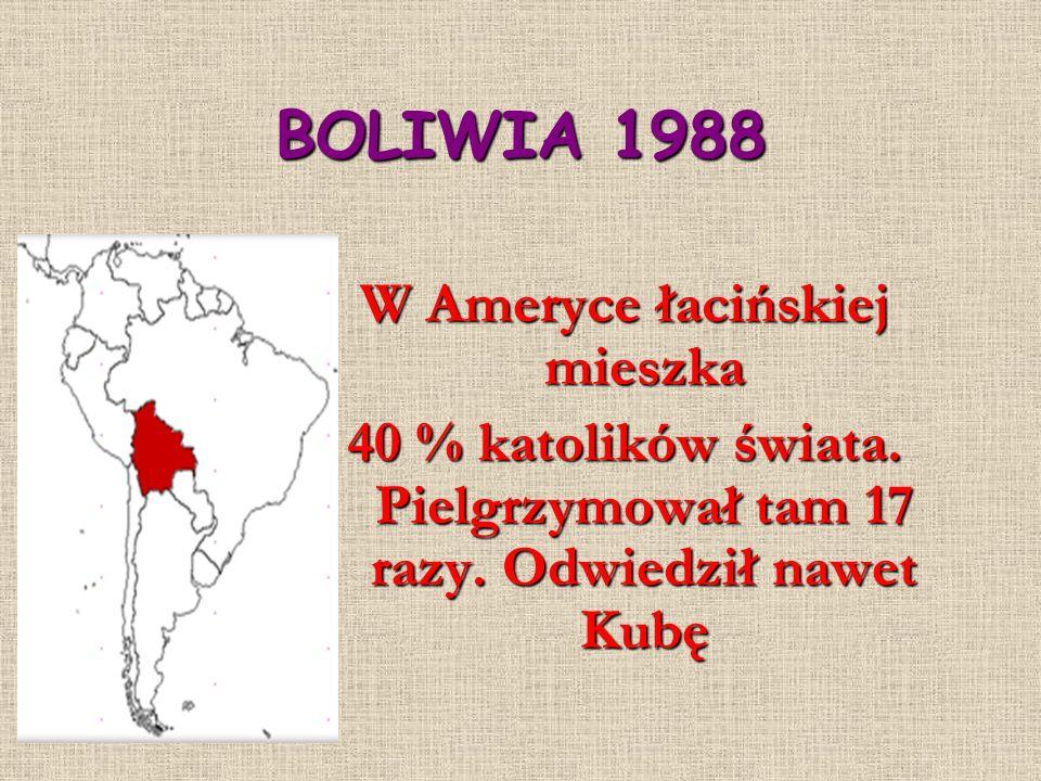 BOLIWIA 1988 W Ameryce łacińskiej mieszka