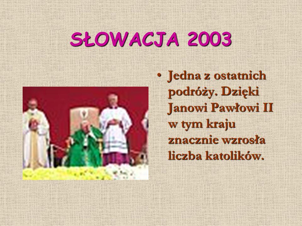 SŁOWACJA 2003 Jedna z ostatnich podróży.