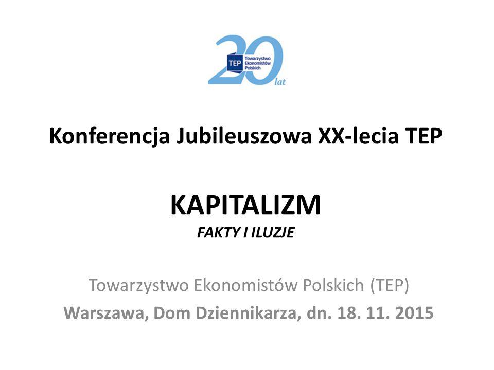 Konferencja Jubileuszowa XX-lecia TEP KAPITALIZM FAKTY I ILUZJE