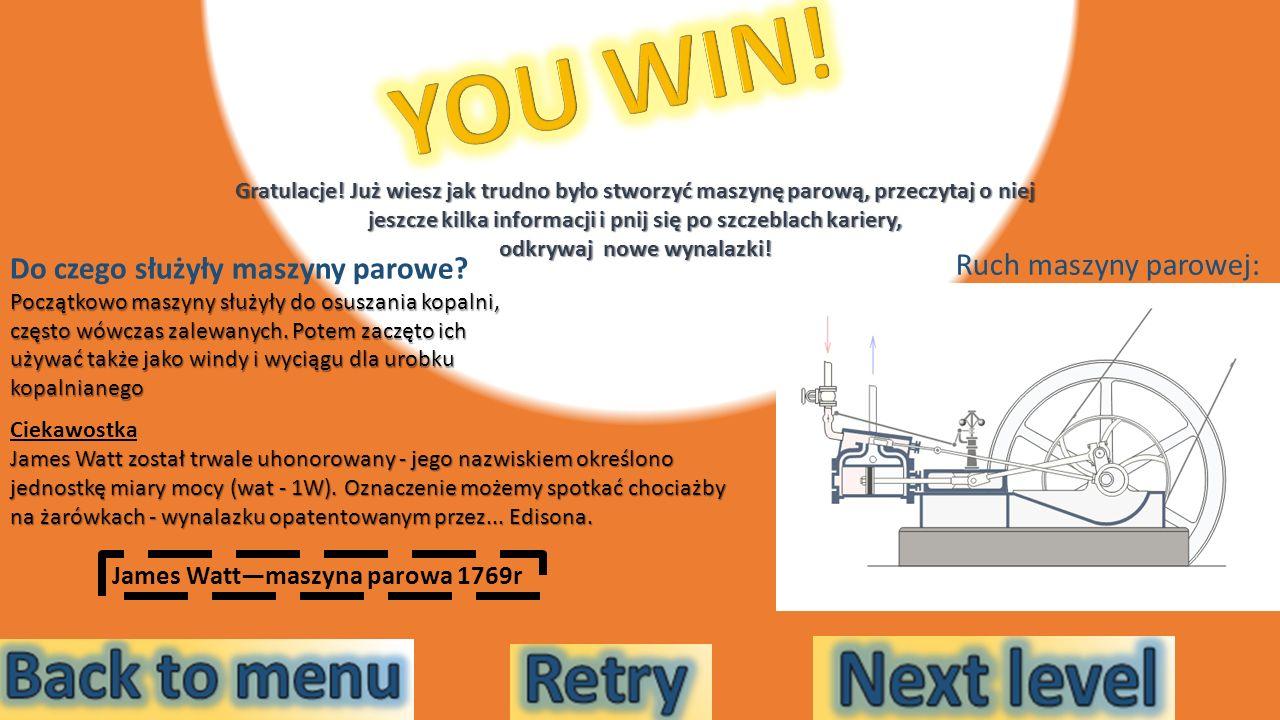 YOU WIN! Ruch maszyny parowej: Do czego służyły maszyny parowe