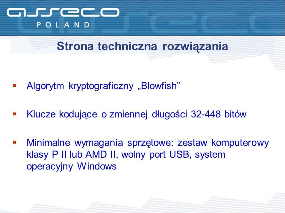 Strona techniczna rozwiązania