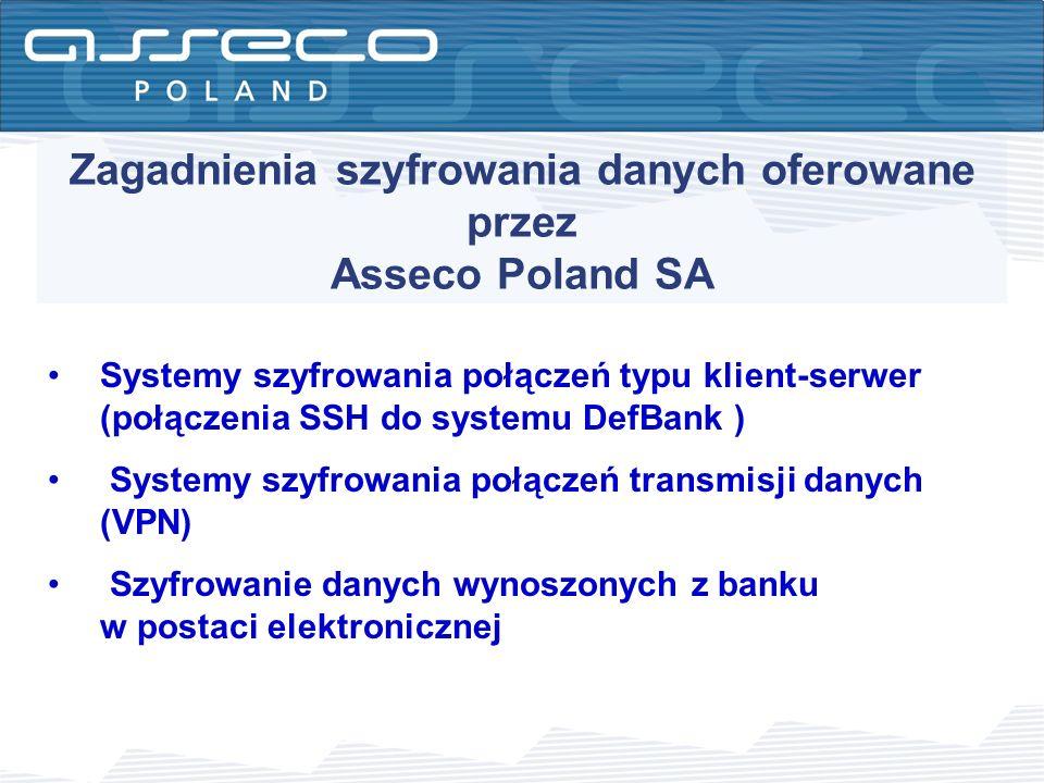 Zagadnienia szyfrowania danych oferowane przez Asseco Poland SA