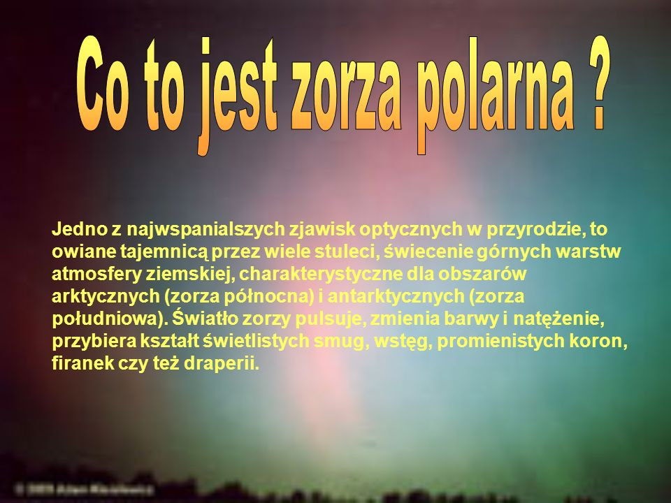 Co to jest zorza polarna