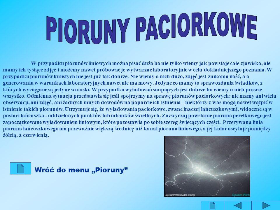 "PIORUNY PACIORKOWE Wróć do menu ""Pioruny"