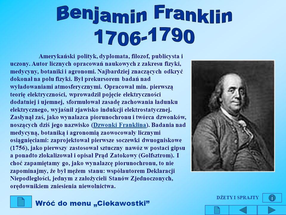 Benjamin Franklin 1706-1790.