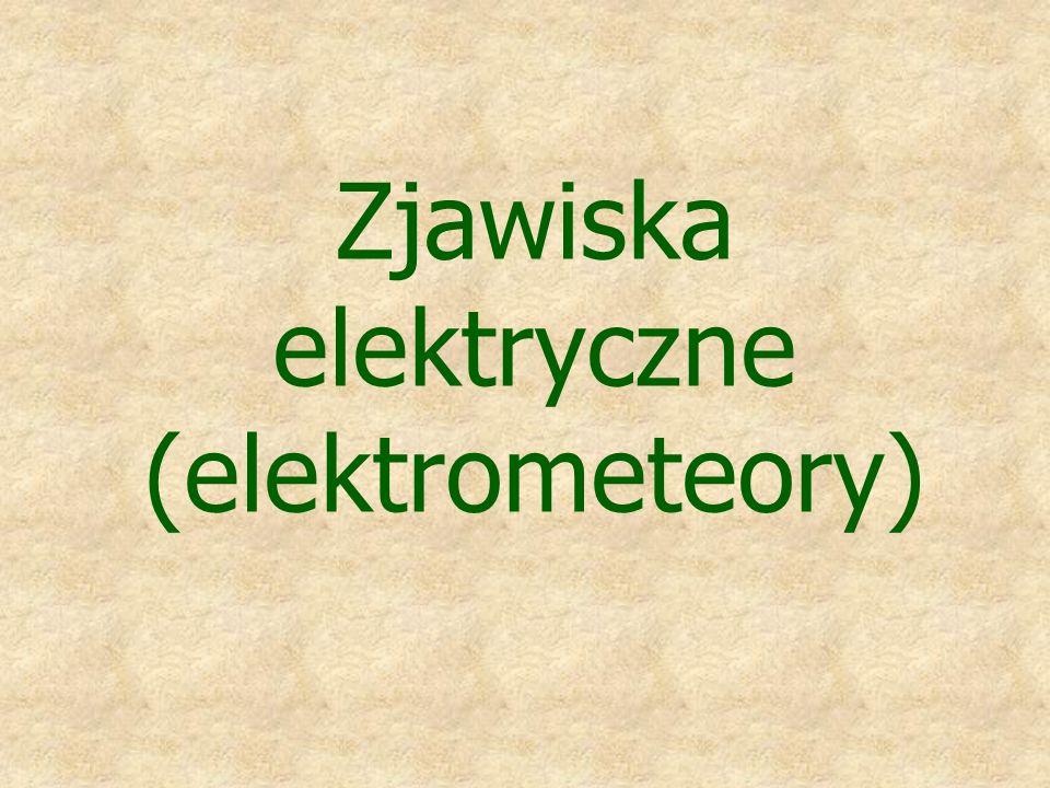 Zjawiska elektryczne (elektrometeory)