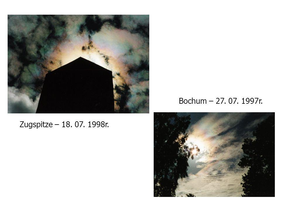 Bochum – 27. 07. 1997r. Zugspitze – 18. 07. 1998r.