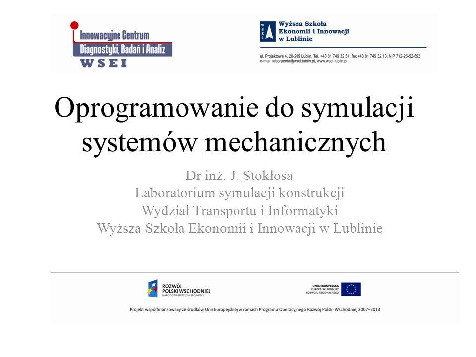 Oprogramowanie do symulacji systemów mechanicznych