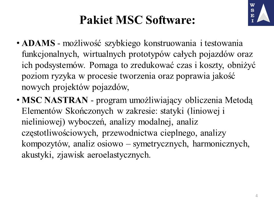 Pakiet MSC Software: