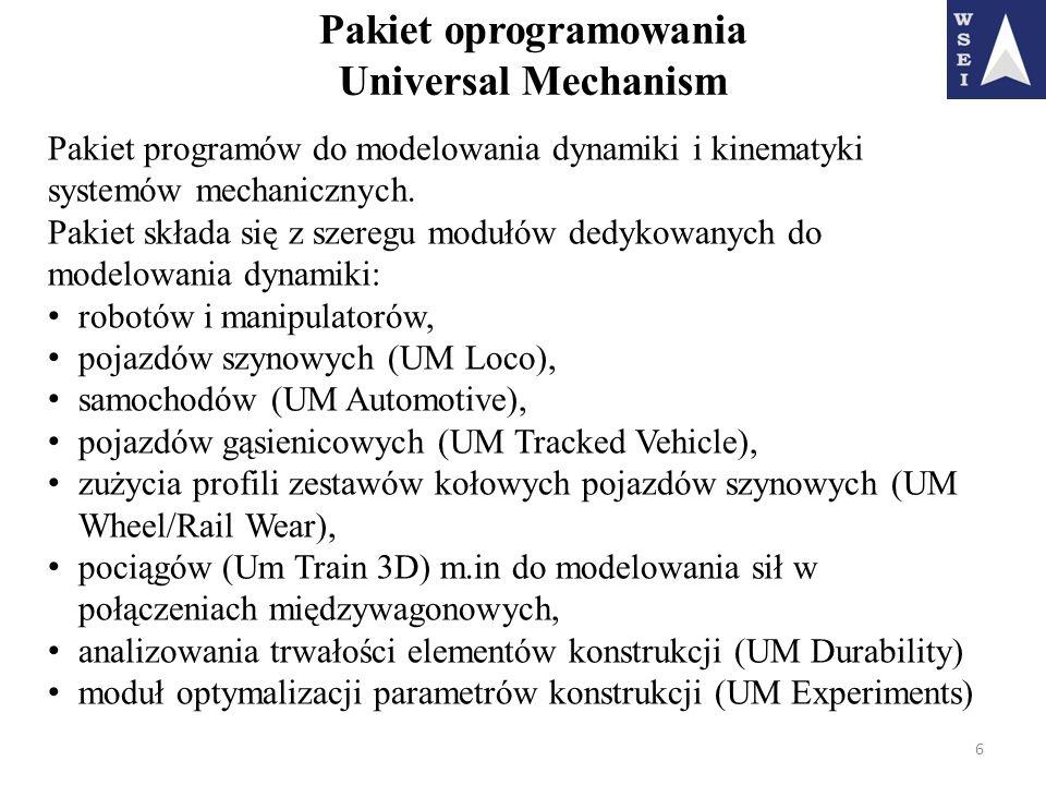 Pakiet oprogramowania Universal Mechanism