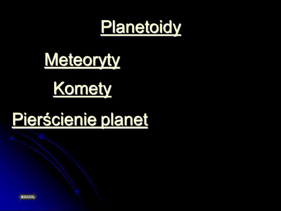 Planetoidy Meteoryty Komety Pierścienie planet