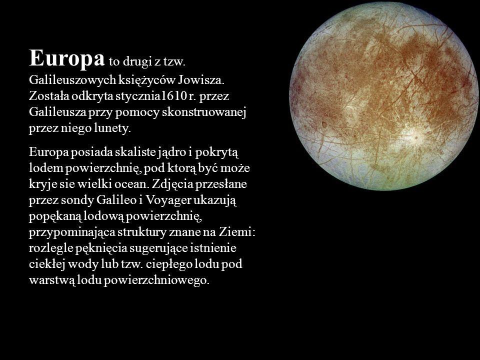 Europa to drugi z tzw. Galileuszowych księżyców Jowisza