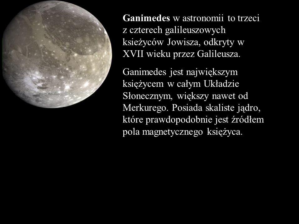 Ganimedes w astronomii to trzeci z czterech galileuszowych ksieżyców Jowisza, odkryty w XVII wieku przez Galileusza.