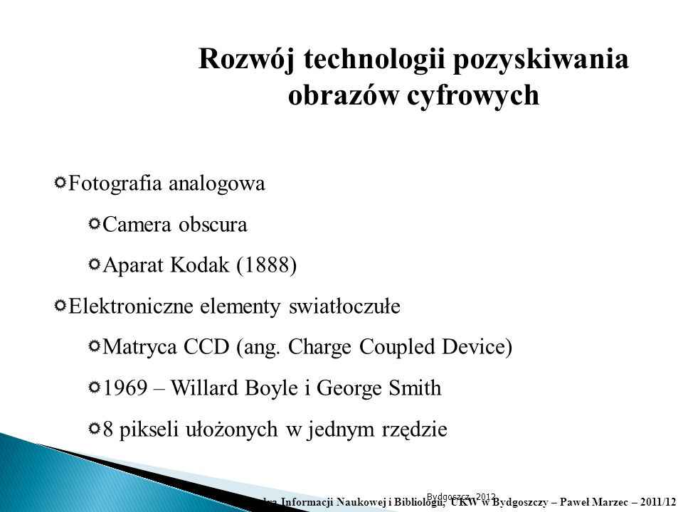 Rozwój technologii pozyskiwania obrazów cyfrowych