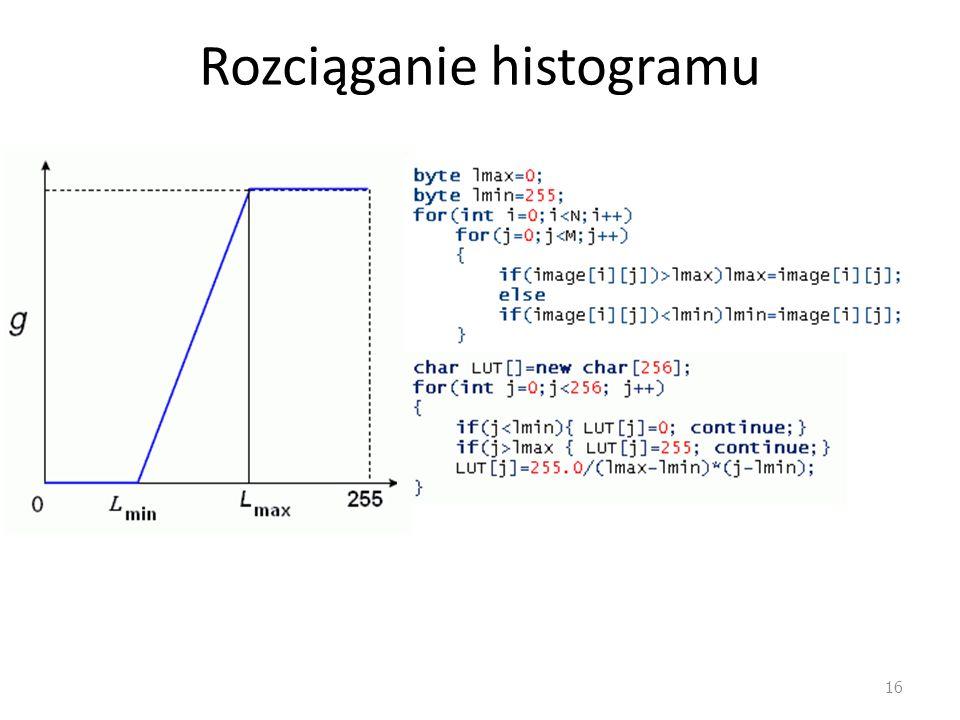Rozciąganie histogramu