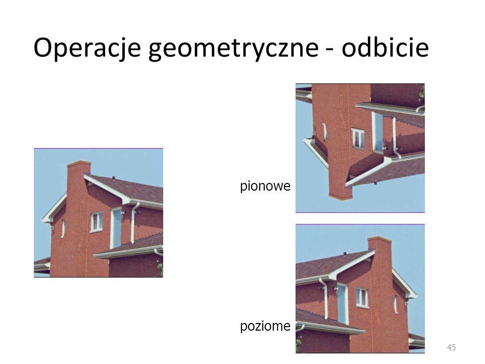 Operacje geometryczne - odbicie