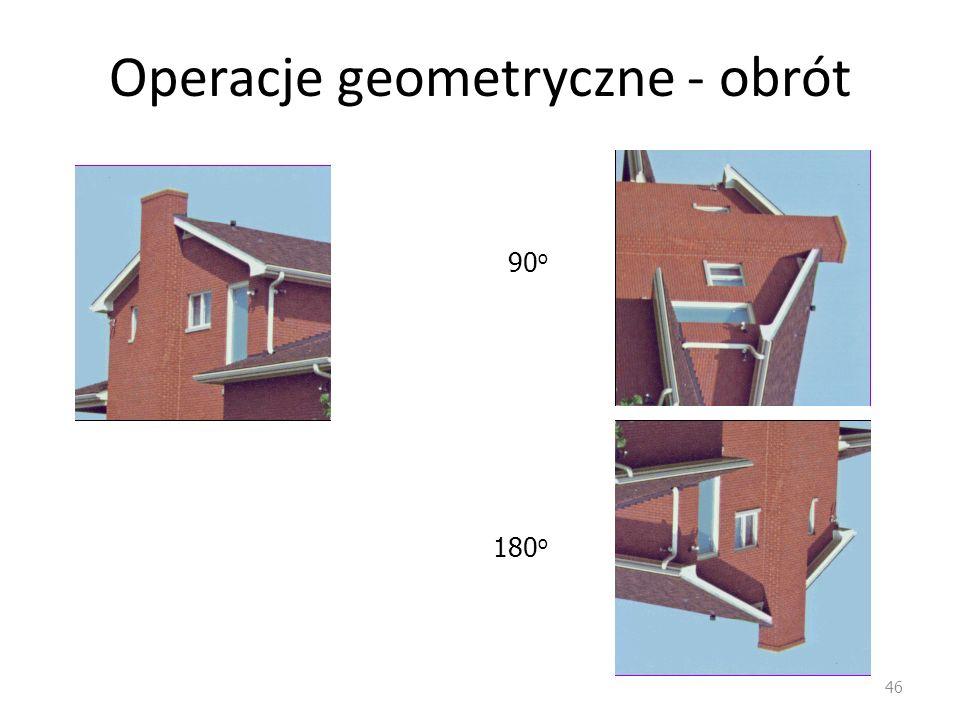 Operacje geometryczne - obrót