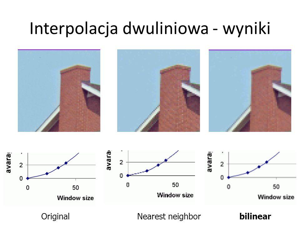Interpolacja dwuliniowa - wyniki