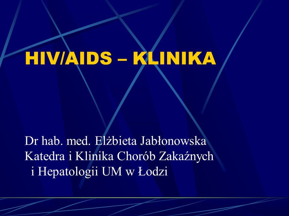 HIV/AIDS – KLINIKA Dr hab. med. Elżbieta Jabłonowska