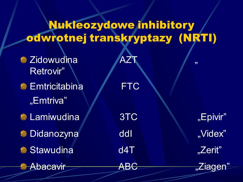 Nukleozydowe inhibitory odwrotnej transkryptazy (NRTI)
