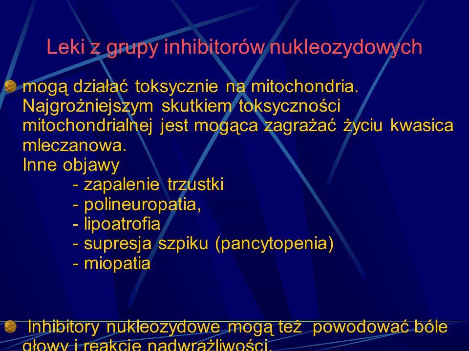 Leki z grupy inhibitorów nukleozydowych