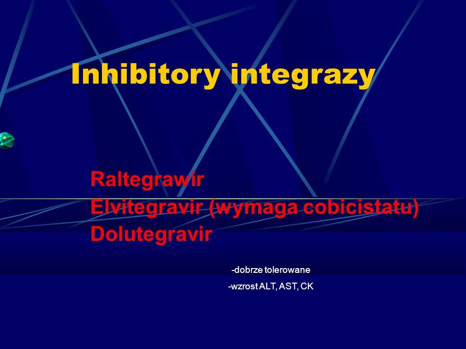 Inhibitory integrazy Raltegrawir Elvitegravir (wymaga cobicistatu)