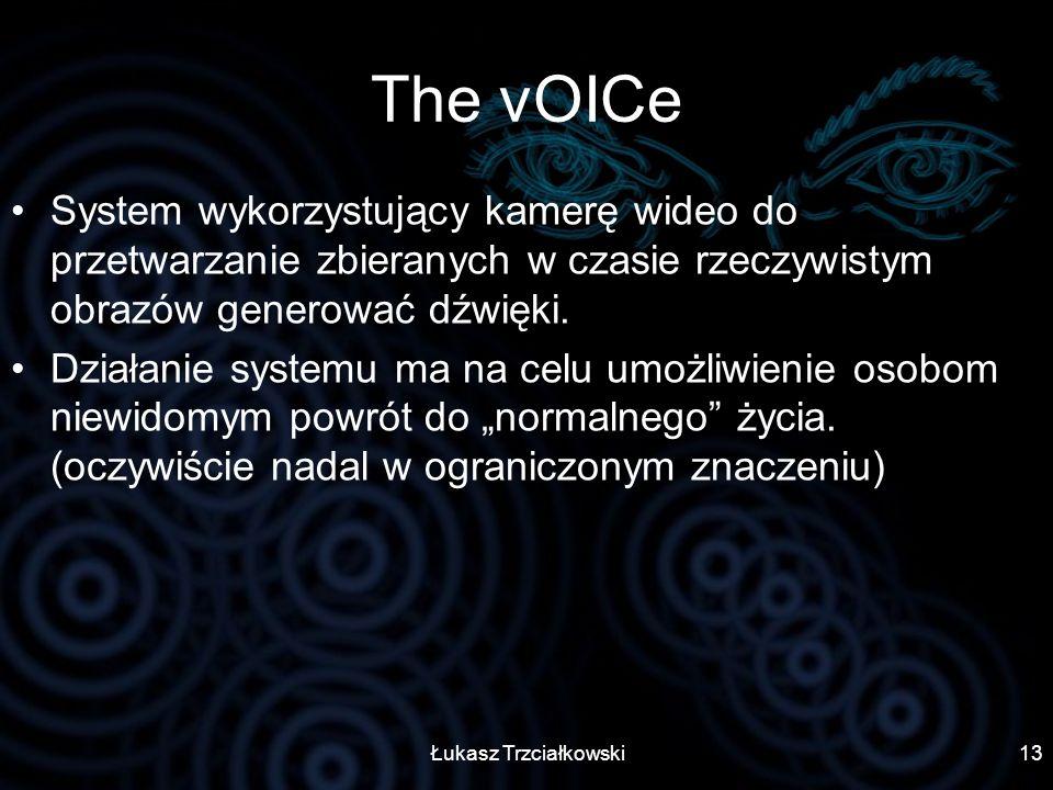 The vOICe System wykorzystujący kamerę wideo do przetwarzanie zbieranych w czasie rzeczywistym obrazów generować dźwięki.