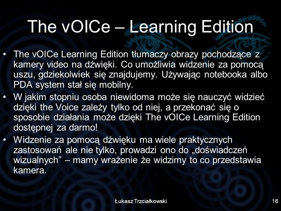 The vOICe – Learning Edition