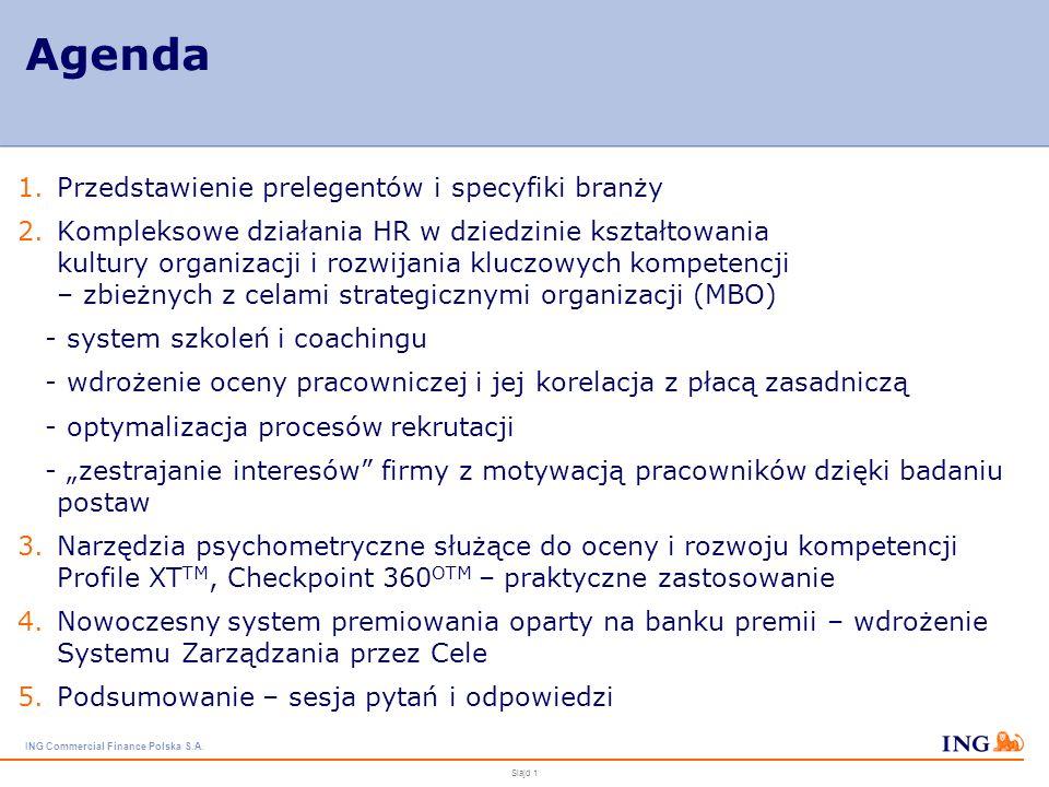 Agenda Przedstawienie prelegentów i specyfiki branży