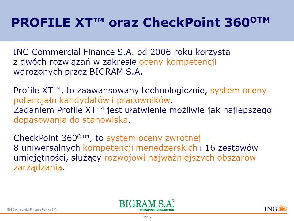 PROFILE XT™ oraz CheckPoint 360OTM