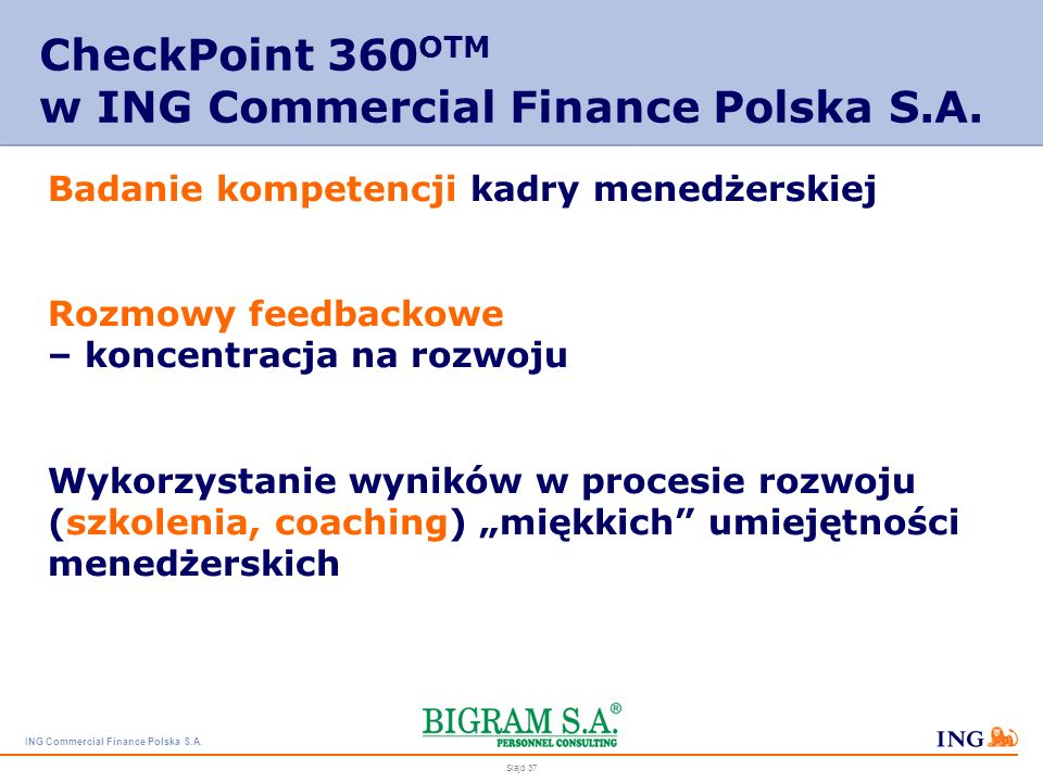 CheckPoint 360OTM w ING Commercial Finance Polska S.A.
